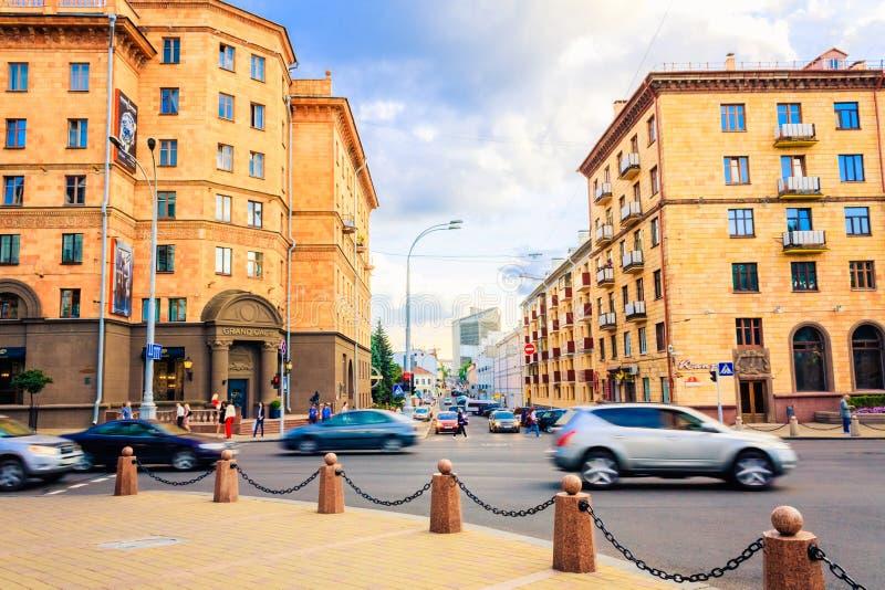 Οδοί του Μινσκ στοκ εικόνα με δικαίωμα ελεύθερης χρήσης
