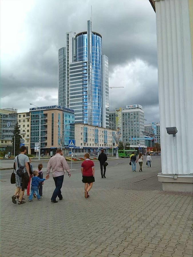 Οδοί του Μινσκ στοκ φωτογραφία