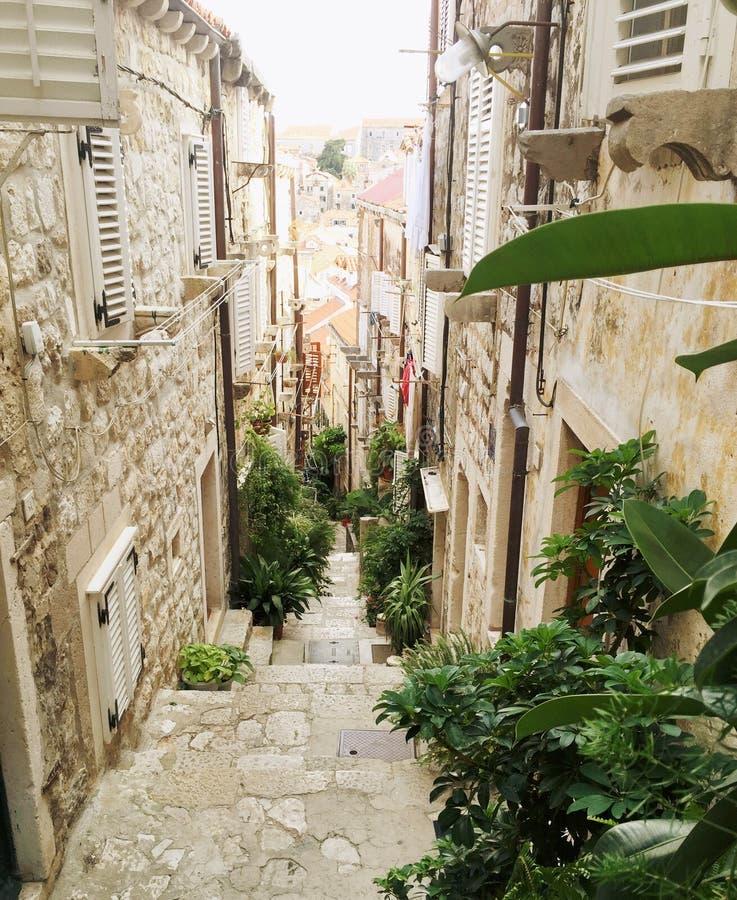 Οδοί Dubrovnik στοκ φωτογραφία με δικαίωμα ελεύθερης χρήσης