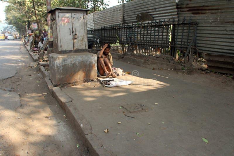 Οδοί Kolkata, επαίτες στοκ φωτογραφία με δικαίωμα ελεύθερης χρήσης