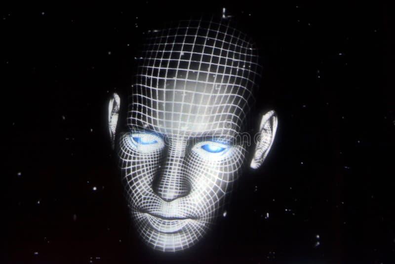 Ολογραφικό πρόσωπο στοκ φωτογραφία με δικαίωμα ελεύθερης χρήσης