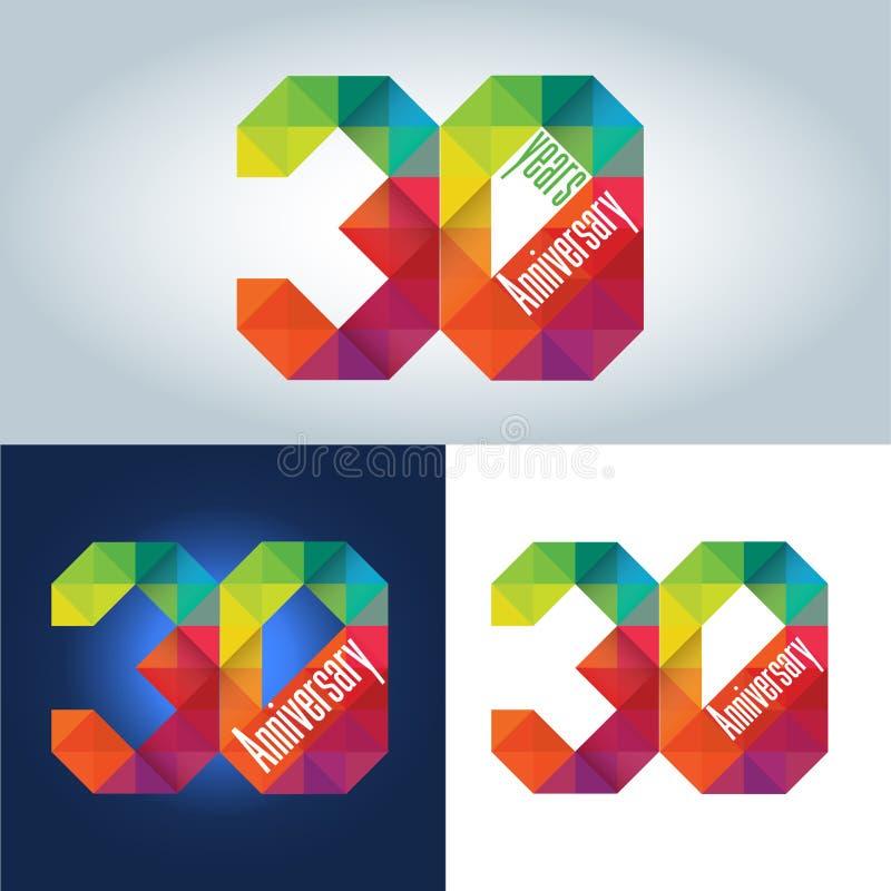 30ο λογότυπο επετείου ελεύθερη απεικόνιση δικαιώματος