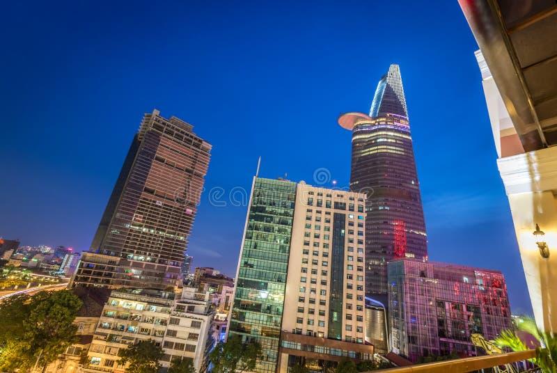 Ο οικονομικός πύργος Bitexco, πόλη Χο Τσι Μινχ, Βιετνάμ στοκ φωτογραφίες