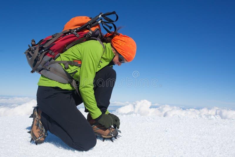 Οδοιπορία χειμερινών παγετώνων στοκ φωτογραφία με δικαίωμα ελεύθερης χρήσης