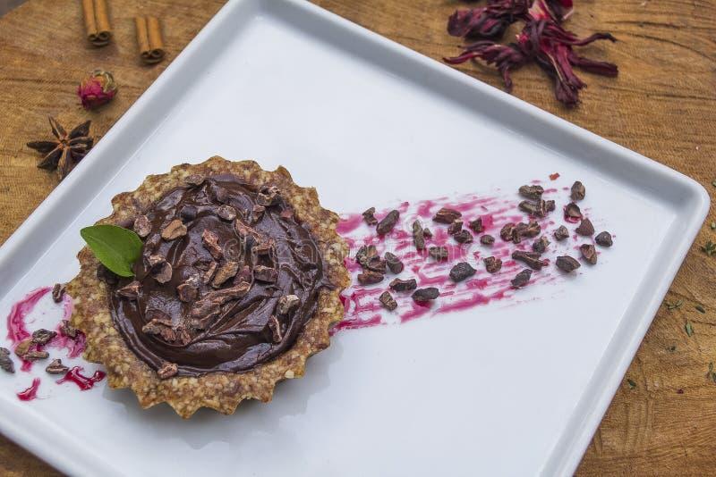 Ολοκλήρωμα σοκολάτας Torta στοκ εικόνες με δικαίωμα ελεύθερης χρήσης