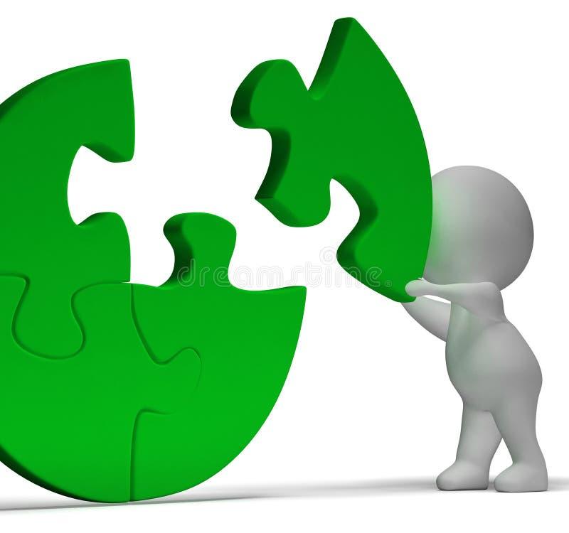 Ολοκλήρωση του τορνευτικού πριονιού που παρουσιάζει την ολοκλήρωση ή επίτευγμα λύσης απεικόνιση αποθεμάτων