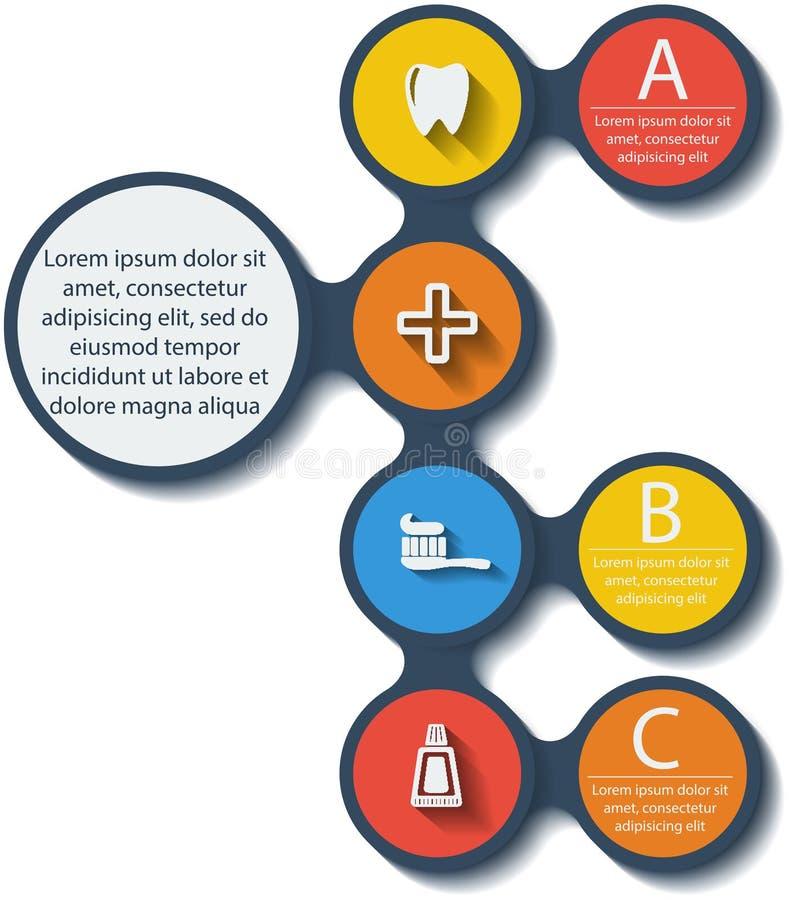 Οδοντικά infographic στοιχεία Metaball. Διάνυσμα. διανυσματική απεικόνιση