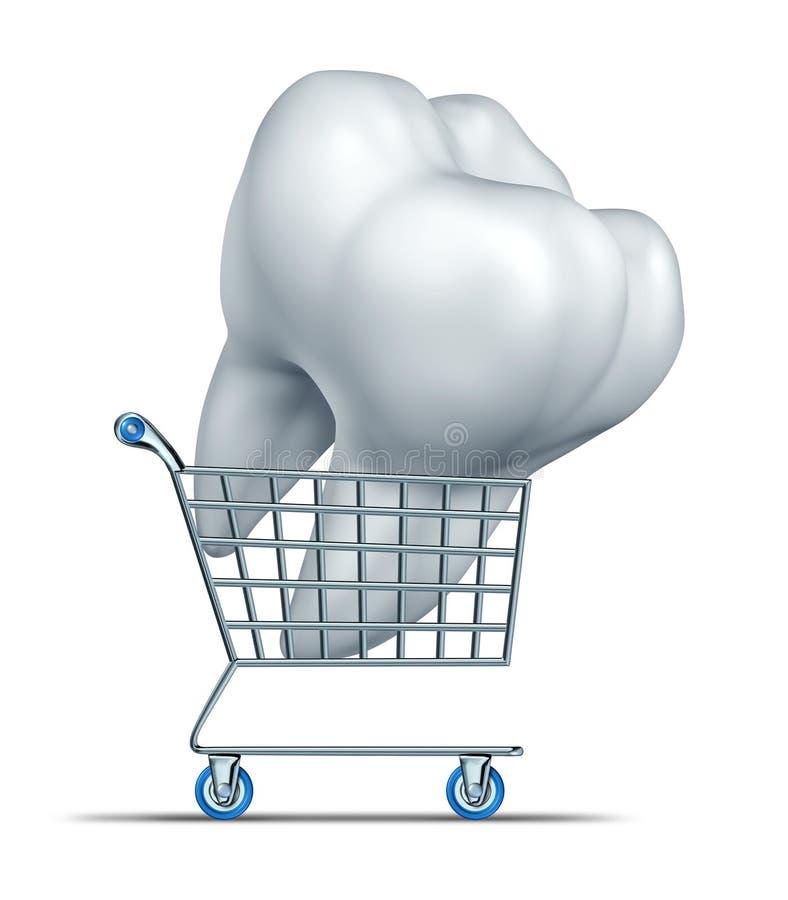 Οδοντικές ασφαλιστικές αγορές διανυσματική απεικόνιση