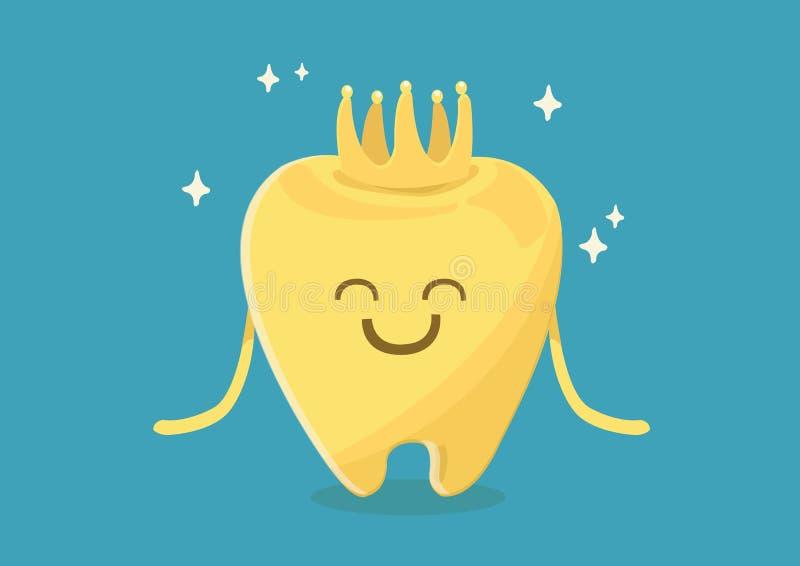 Οδοντική κορώνα ελεύθερη απεικόνιση δικαιώματος