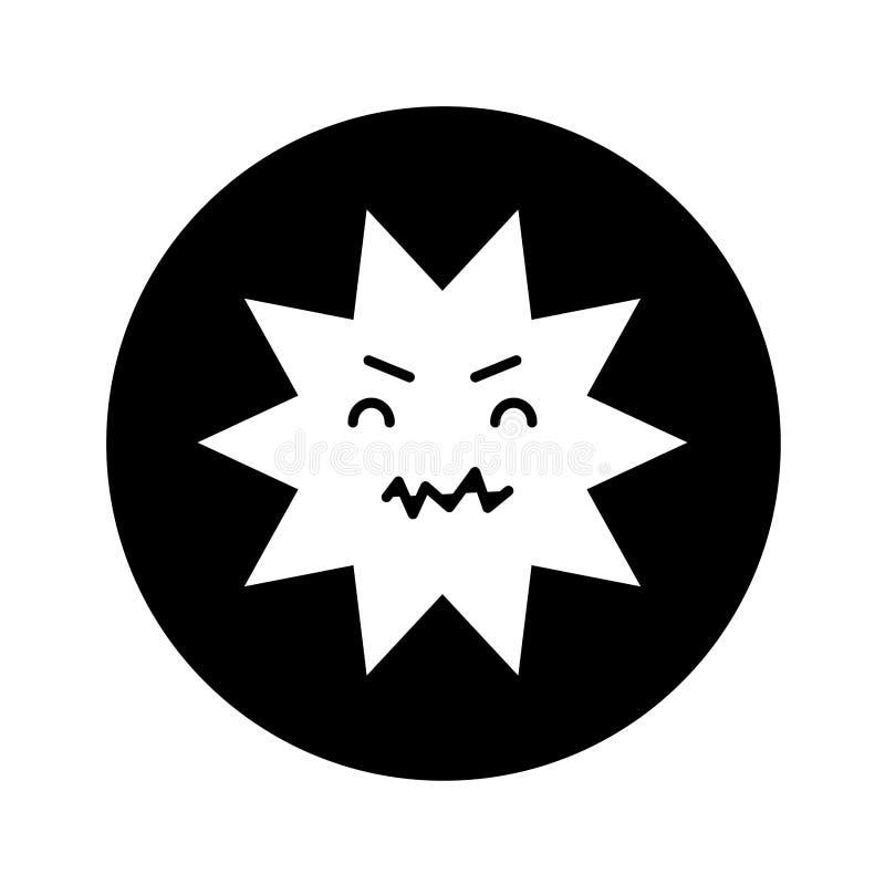 Οδοντικός κωμικός χαρακτήρας τερηδόνων απεικόνιση αποθεμάτων