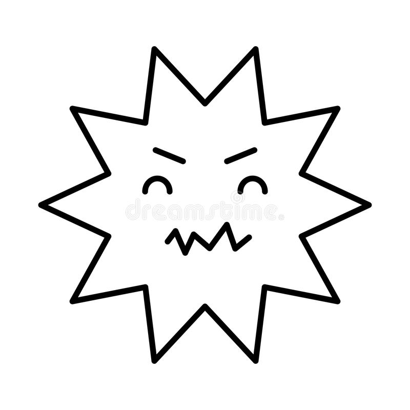 Οδοντικός κωμικός χαρακτήρας τερηδόνων διανυσματική απεικόνιση