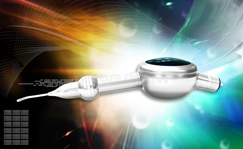 Οδοντικός στιλβωτής Handpiece αέρα διανυσματική απεικόνιση