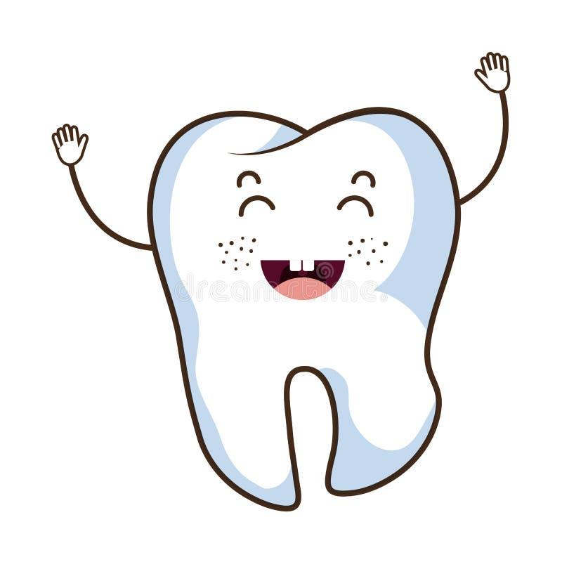 Οδοντικός χαρακτήρας δοντιών προσοχής απεικόνιση αποθεμάτων