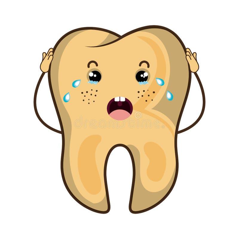 Οδοντικός χαρακτήρας δοντιών προσοχής ελεύθερη απεικόνιση δικαιώματος