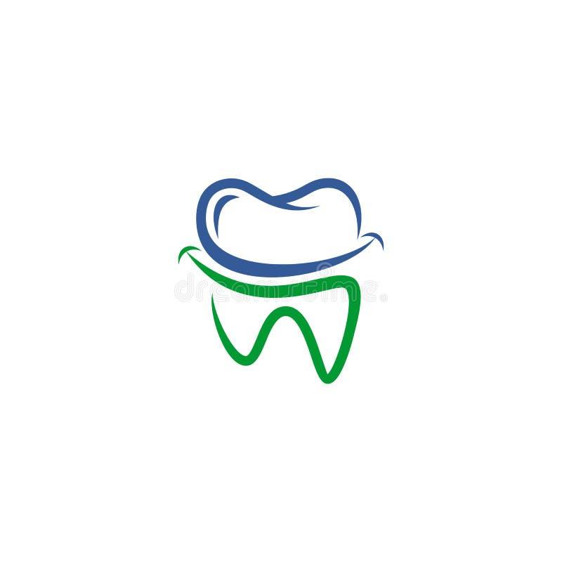 Οδοντικό διανυσματικό λογότυπο διανυσματική απεικόνιση