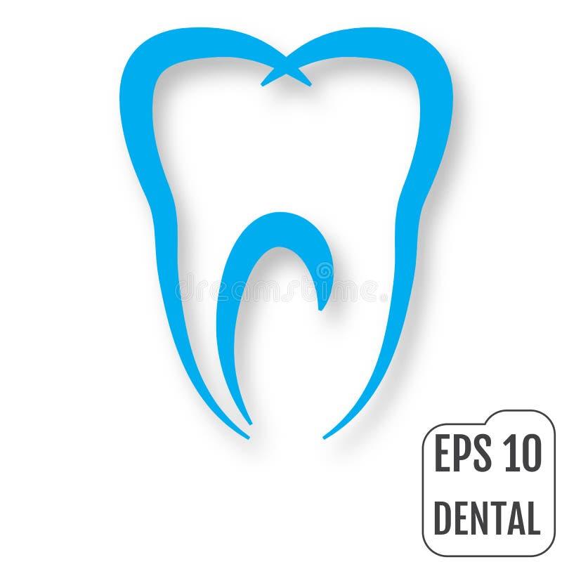 οδοντικό λογότυπο Έννοια της οδοντικής κλινικής διάνυσμα ελεύθερη απεικόνιση δικαιώματος