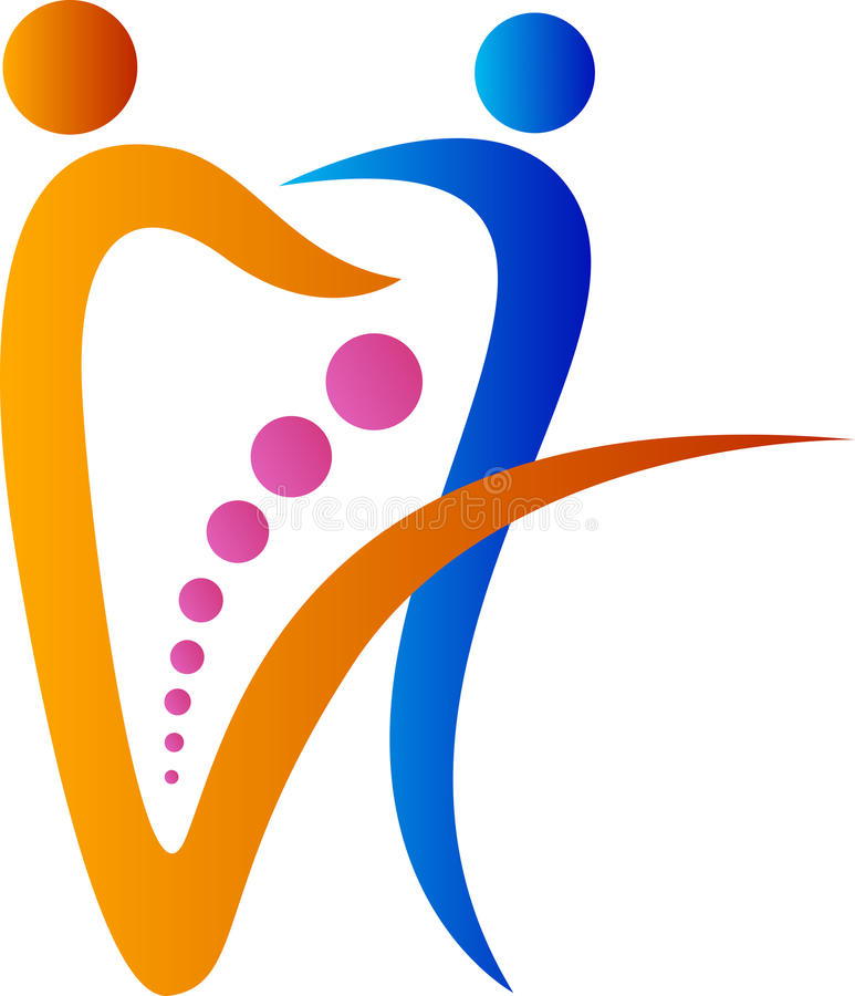 Οδοντικό λογότυπο ζευγών απεικόνιση αποθεμάτων