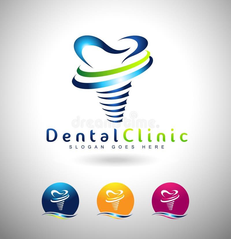 Οδοντικό λογότυπο μοσχευμάτων απεικόνιση αποθεμάτων