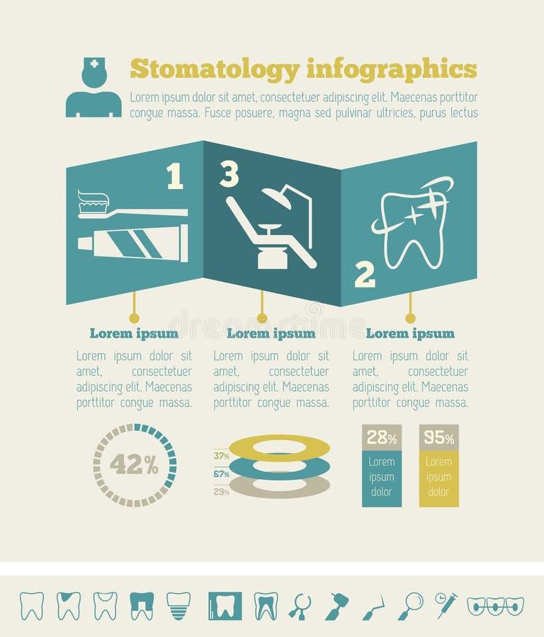 Οδοντικό πρότυπο Infographic διανυσματική απεικόνιση