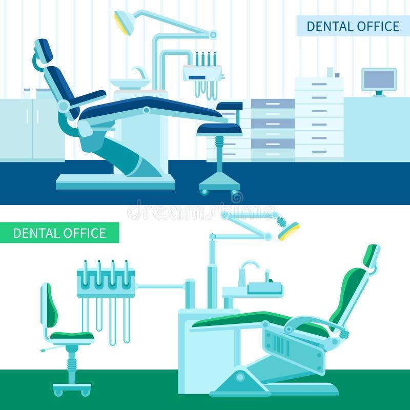 Οδοντικό σύνολο εμβλημάτων δωματίων απεικόνιση αποθεμάτων