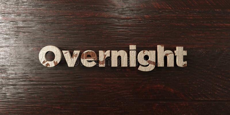 Ολονυκτίς - βρώμικος ξύλινος τίτλος στο σφένδαμνο - τρισδιάστατο δικαίωμα ελεύθερη εικόνα αποθεμάτων ελεύθερη απεικόνιση δικαιώματος