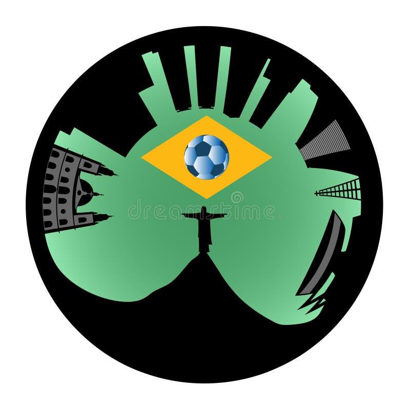 Ο ορίζοντας του Ρίο μοιάζει με το δαχτυλίδι ελεύθερη απεικόνιση δικαιώματος