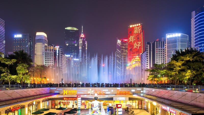 Ο ορίζοντας του τετραγώνου πόλεων λουλουδιών σε Guangzhou στοκ φωτογραφίες με δικαίωμα ελεύθερης χρήσης