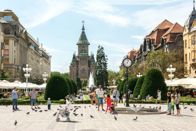 Ο ορθόδοξος καθεδρικός ναός Timisoara στοκ φωτογραφία με δικαίωμα ελεύθερης χρήσης