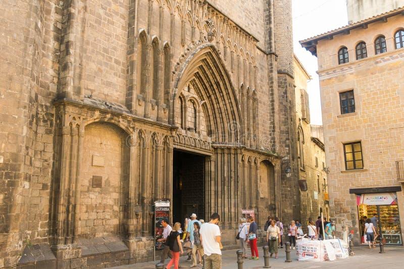 Ο 14ος αιώνας βασιλικών de Σάντα Μαρία del pi στο γοτθικό Qu στοκ εικόνες