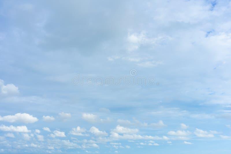 Ο ουρανός είναι ανοιχτό μπλε Υπάρχουν σύννεφα που επιπλέουν κατευθείαν Αισθανθείτε ότι χαλαρώστε κατά την κοίταγμα Δείτε τον ήλιο στοκ φωτογραφία με δικαίωμα ελεύθερης χρήσης