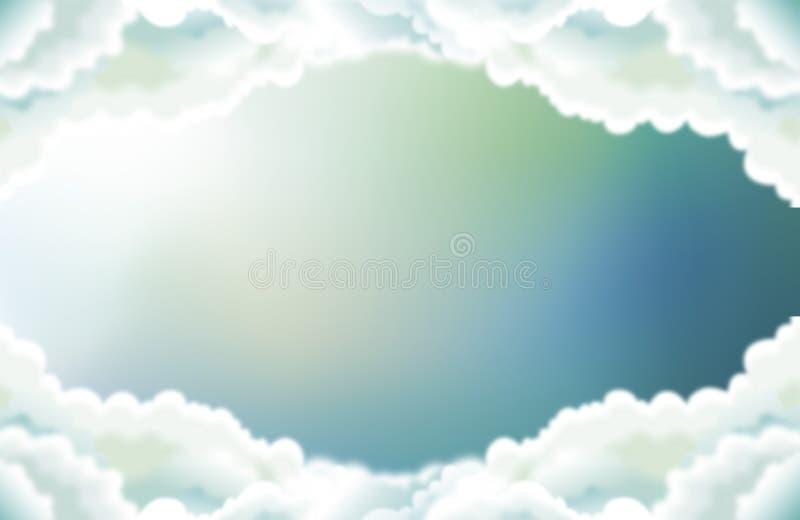 Ο ουρανός στα μέσα σύννεφα απεικόνιση αποθεμάτων