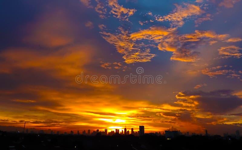 Ο ουρανός Τζακάρτα στοκ εικόνες με δικαίωμα ελεύθερης χρήσης