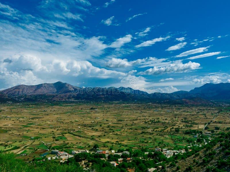 Ο ουρανός της κοιλάδας του Λασιθιού στοκ εικόνες