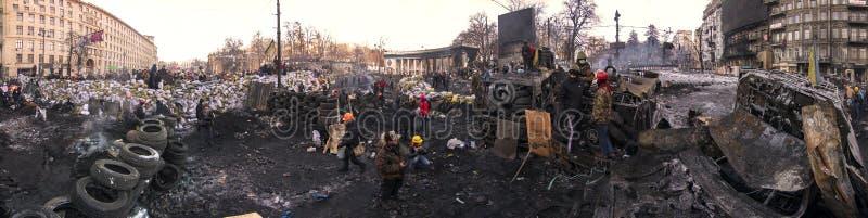 Οδοφράγματα στην οδό Hrushevskoho στοκ φωτογραφία με δικαίωμα ελεύθερης χρήσης