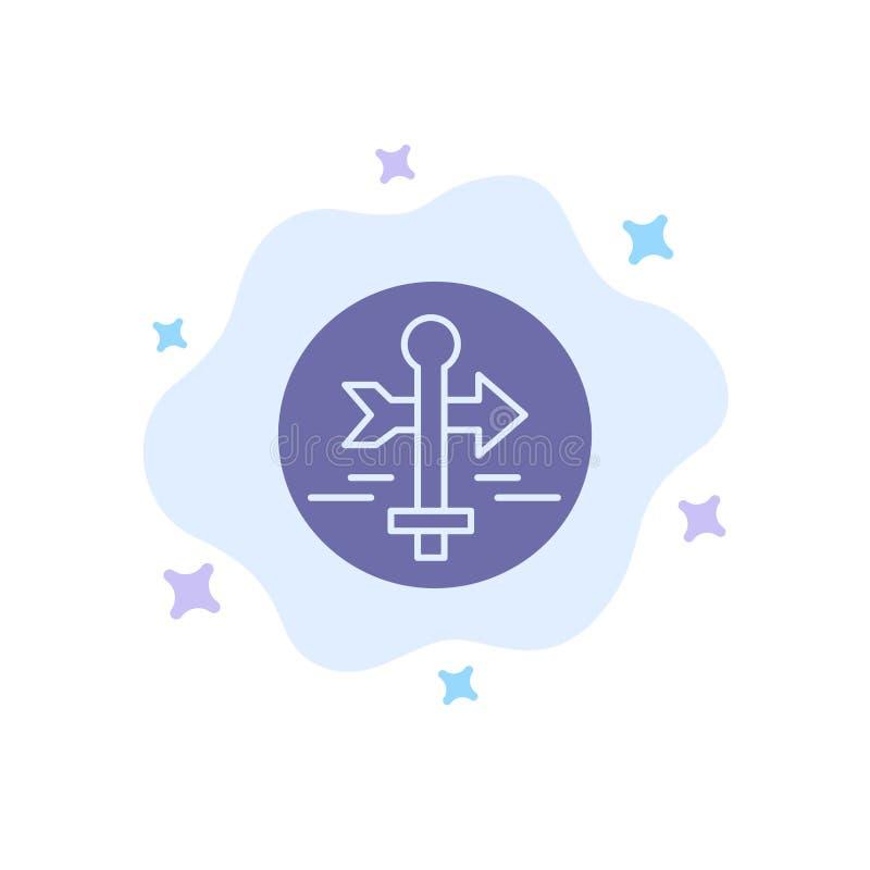 Ο πίνακας, οδηγός, χάρτης, δείκτης χαρτών, ταξιδεύει το μπλε εικονίδιο στο αφηρημένο υπόβαθρο σύννεφων ελεύθερη απεικόνιση δικαιώματος