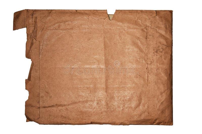 Ο παλαιός ταχυδρομικός φάκελος του τραχιού εγγράφου για ένα άσπρο υπόβαθρο στοκ φωτογραφία με δικαίωμα ελεύθερης χρήσης