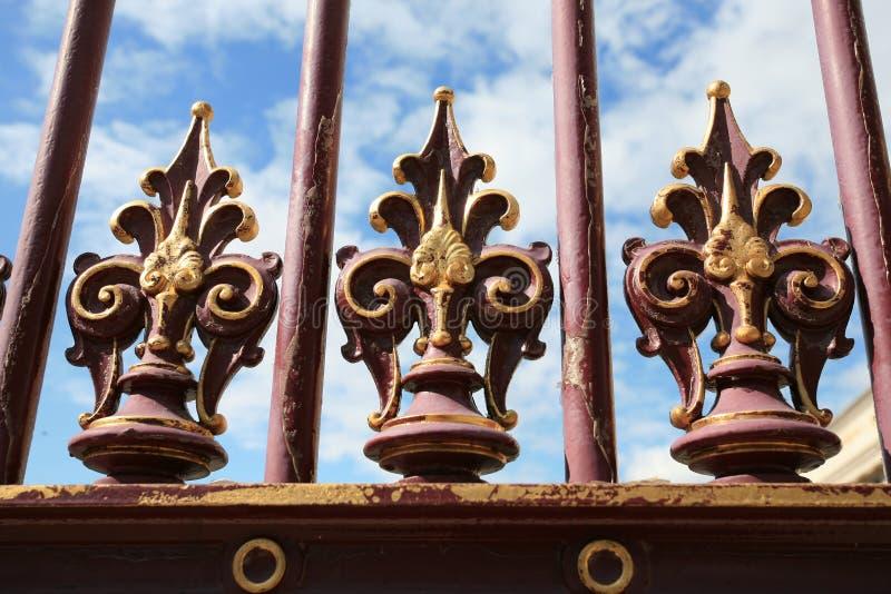Ο παλαιός φράκτης σιδήρου ακμάζει τη διακόσμηση στη Βιέννη στοκ φωτογραφία με δικαίωμα ελεύθερης χρήσης