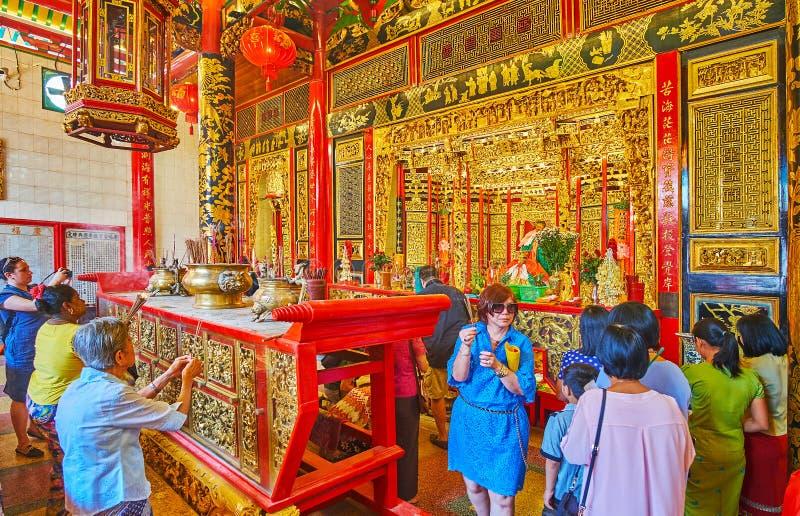 Ο παλαιότερος κινεζικός ναός Yangon, το Μιανμάρ στοκ εικόνα με δικαίωμα ελεύθερης χρήσης
