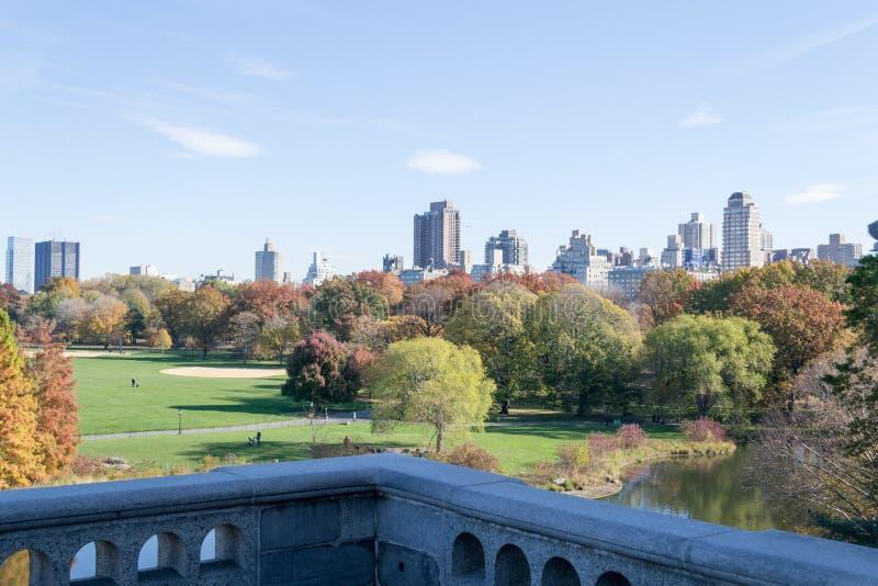 Ο πανοραμικός πυργίσκος Castle στο Central Park περιέχει τον επίσημο καιρό s στοκ εικόνα με δικαίωμα ελεύθερης χρήσης