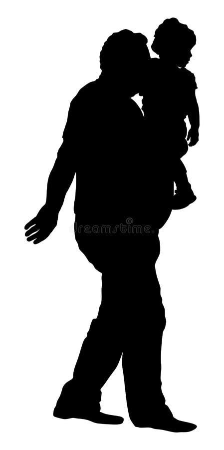 Ο παππούς και ο εγγονός επιτρέπουν Φέρνοντας σκιαγραφία εγγονών παππούδων ελεύθερη απεικόνιση δικαιώματος