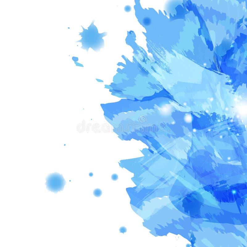Ο παφλασμός Watercolor, αφαιρεί το καλλιτεχνικό έμβλημα σύστασης υποβάθρου διανυσματική απεικόνιση