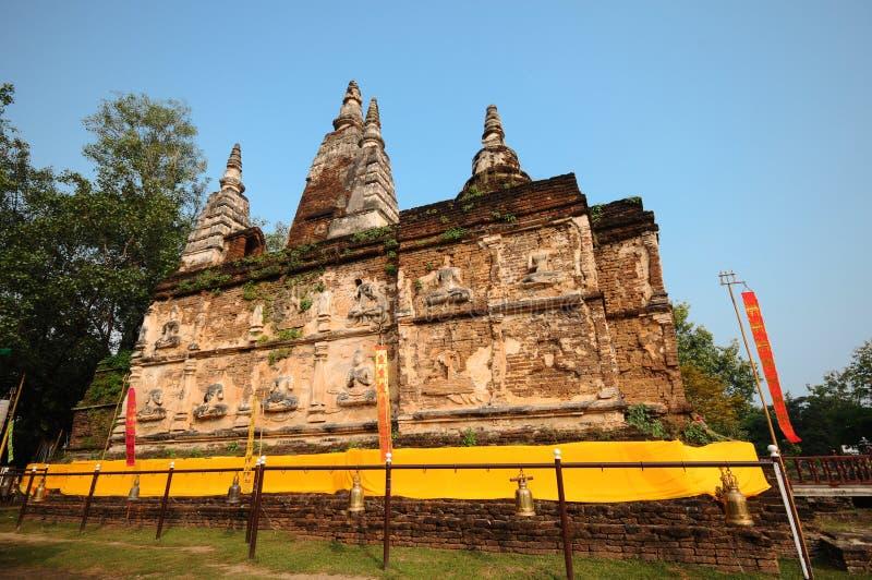Ο παλαιός ναός στο chiangmai, Ταϊλάνδη στοκ φωτογραφία με δικαίωμα ελεύθερης χρήσης