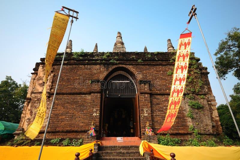Ο παλαιός ναός στο chiangmai, Ταϊλάνδη στοκ εικόνες