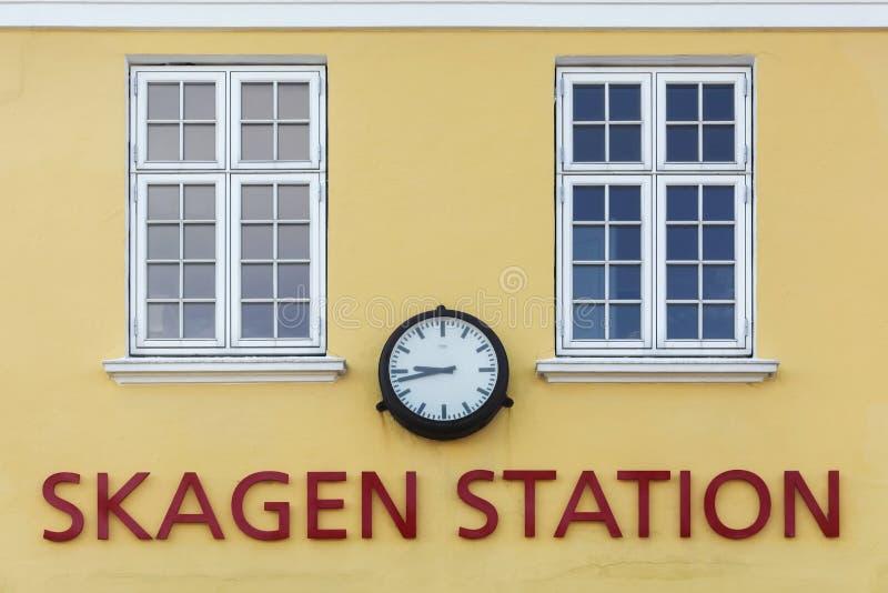Ο παλαιός σταθμός τρένου σε Skagen, Δανία στοκ εικόνες