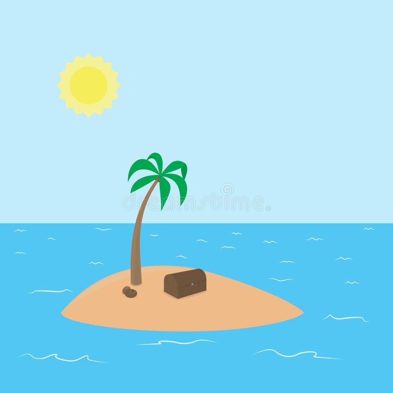 Ο πειρατής εγκατάλειψε το τροπικό νησί με κρυμμένος ελεύθερη απεικόνιση δικαιώματος
