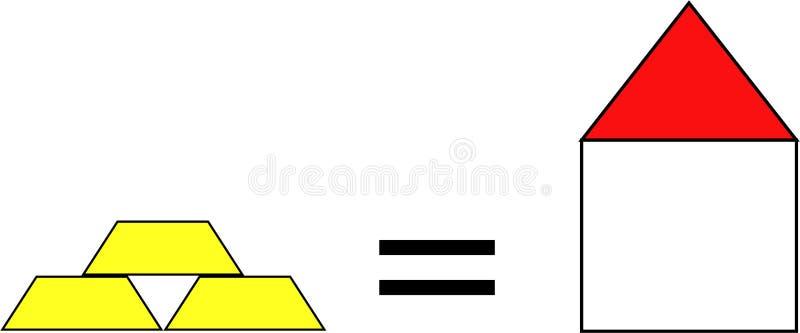 Ο πλούτος σας είναι ίσος με το σπίτι απεικόνιση αποθεμάτων