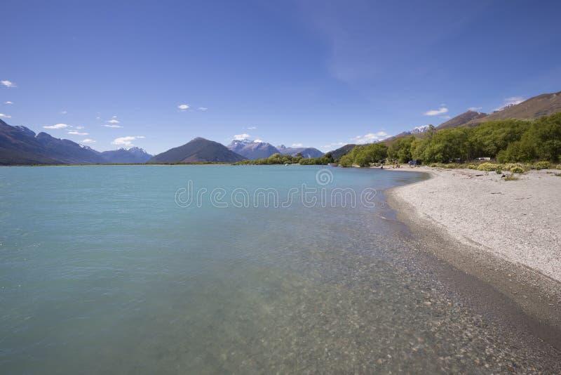 Ο ποταμός βελών, Glenorchy, NZ στοκ εικόνες