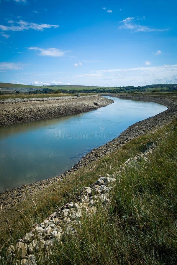 Ο ποταμός Ouse κοντά σε Piddinghoe UK στοκ εικόνες με δικαίωμα ελεύθερης χρήσης