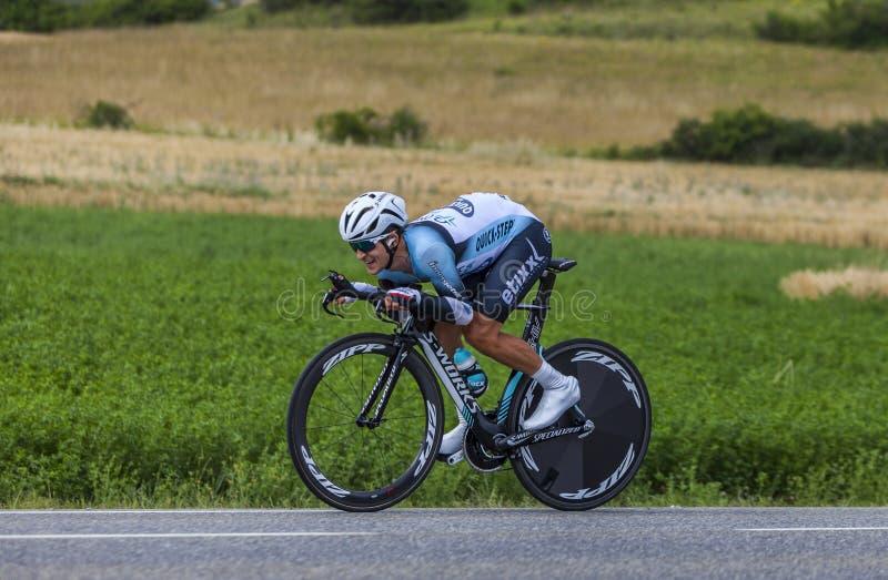 Ο ποδηλάτης Michal Kwiatkowski στοκ εικόνες