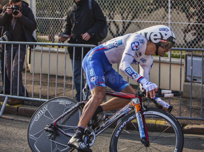 Ο ποδηλάτης Soupe Geoffrey Παρίσι Νίκαια 2013 Prolog στοκ φωτογραφία